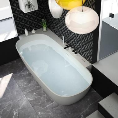 Hafro Calle Ovale ванна из искусственного камня 180х80 см