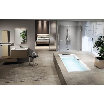 Novellini DIVINA B35 акриловая ванна встраиваемая 180-80 см на раме с сифоном и подголовником