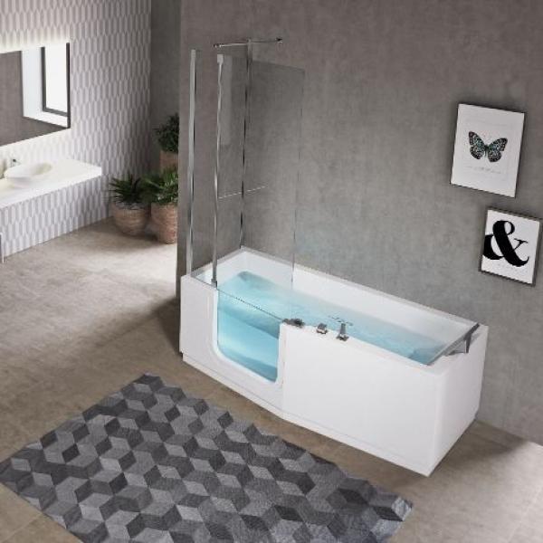 Novellini Iris Comby Plus акриловая ванна 170x70 с шторкой для ванны