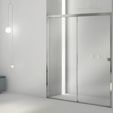 2B box LA8 T2 душевая дверь в нишу ширина 100 см. стекло прозрачное, профиль хром