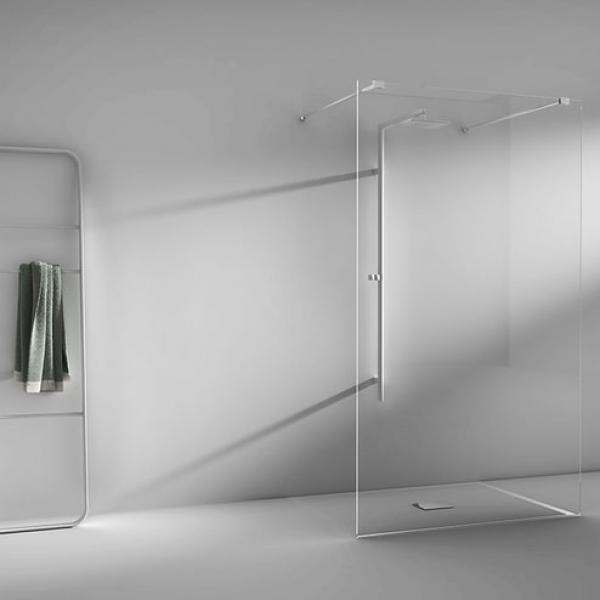 2B box LA8 T0B душевая стенка пристенная ширина 118 см. стекло прозрачное, профиль хром