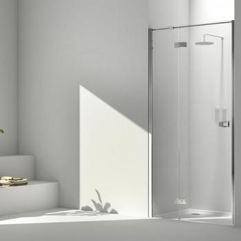 2B box LA8 T6 душевая дверь в нишу ширина 100 см. стекло прозрачное, профиль хром