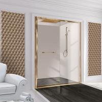 2B box Luxury Design 53A душевая дверь в нишу ширина 100 см. стекло прозрачное, профиль золото