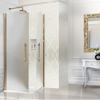 2B box Luxury Design 8A1 душевая кабина 70*70 см. стекло сатинированное, профиль золото