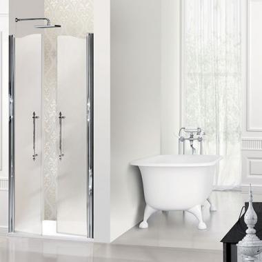 2B box Luxury Design 8F9 душевая дверь в нишу ширина 90 см. стекло сатинированное, профиль хром