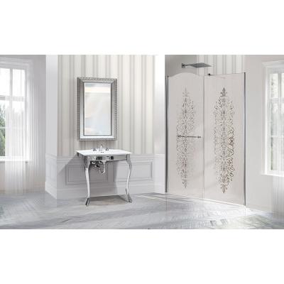 2B box Luxury Design 8P2 душевая дверь в нишу ширина 140 см. стекло сатинированное с декором, профиль хром