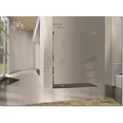 2B box Luxury Design 03B душевая стенка ширина 120 см. стекло прозрачное, профиль золото