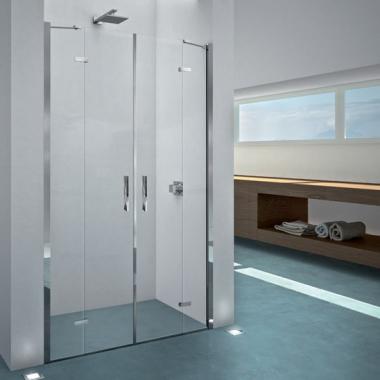 2B box Serie 1000 18A душевая дверь в нишу ширина 120 см. стекло прозрачное, профиль хром