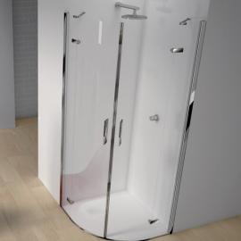 2B box Serie 1000 16B душевая кабина угловая 90*90 см. стекло прозрачное, профиль хром