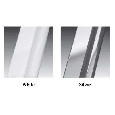Novellini Riviera 2.0 3P душевая дверь в нишу ширина 70 см. стекло прозрачное профиль Silver