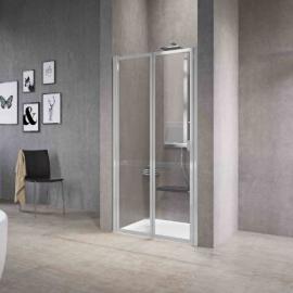 Novellini Free 2P душевая дверь в нишу 84-90 см стекло прозрачное профиль Silver