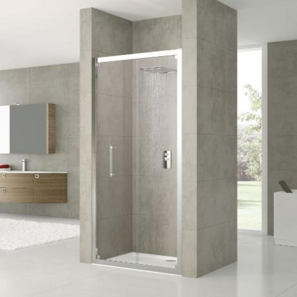 Novellini Rose Rosse S душевая дверь в нишу ширина 96-102 см. стекло прозрачное, профиль хром