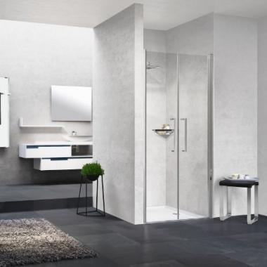 Novellini Young 2B душевая дверь в нишу ширина 98-102 см. стекло прозрачное, профиль хром