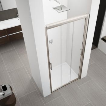 Novellini Zephyros 3P душевая дверь в нишу ширина 120 см. стекло прозрачное профиль хром