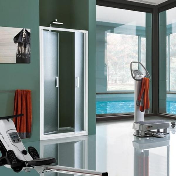 Samo Cee Art B0938 душевая дверь в нишу 100 см. стекло прозрачное, профиль белый матовый