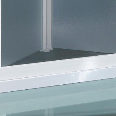 Samo Europa B7810 душевая дверь в нишу длина 90 см. стекло прозрачное, профиль хром