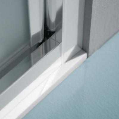 Samo Europa B7834 душевая дверь в нишу 100 см. стекло прозрачное, профиль хром