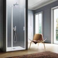Samo Polaris B3841 душевая дверь в нишу ширина 100 см. стекло прозрачное, профиль белый