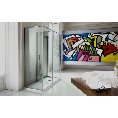 Vismara Vetro In-out душевая кабина 160*75 см. стекло прозрачное, профиль хром