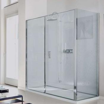 Vismara Vetro Linea LZ+LG душевая кабина 120*100 см. стекло прозрачное, профиль хром