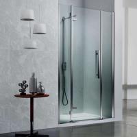 Vismara Vetro Sintesi Tiquadro душевая дверь в нишу ширина  110 см. стекло прозрачное, профиль хром