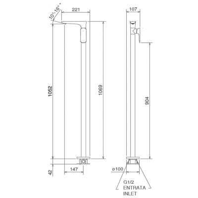 LaTorre Laghi Смеситель для раковины напольный 44601 PAV