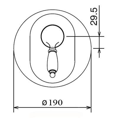 LaTorre Zafira смеситель для душа 8050 RE Oro