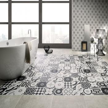 Fioranese Cementine Black & White керамическая плитка для пола и стен