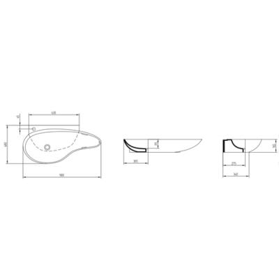 AeT Accent раковина подвесная L235