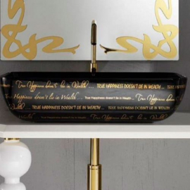 AeT Elite раковина накладная L603/421 с декором «WORD STYLE»