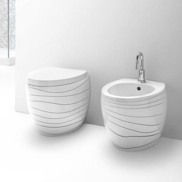 AeT Oval унитаз напольный S541 цвет белый с декором