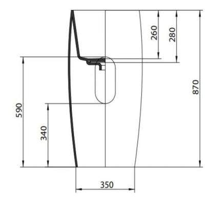 AeT Pillar раковина напольная с колонной L103 white