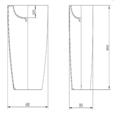 AeT TOWER ONE раковина напольная L110/430 с декором