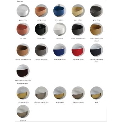 ArtCeram раковина накладная цветная Cognac COL002