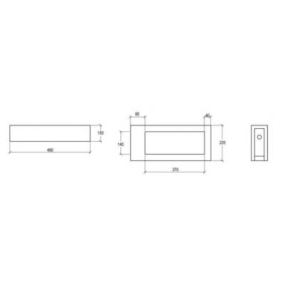 GSG Box раковина подвесная белая BXLAME60