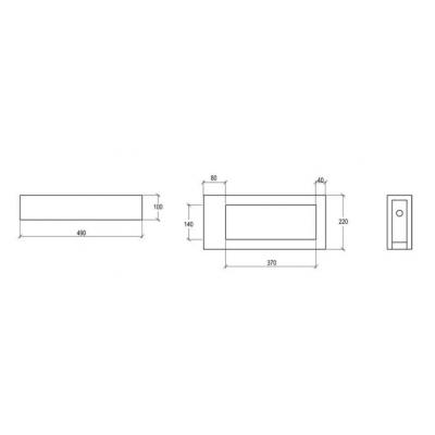 GSG Box раковина накладная белая BXLAME60LC