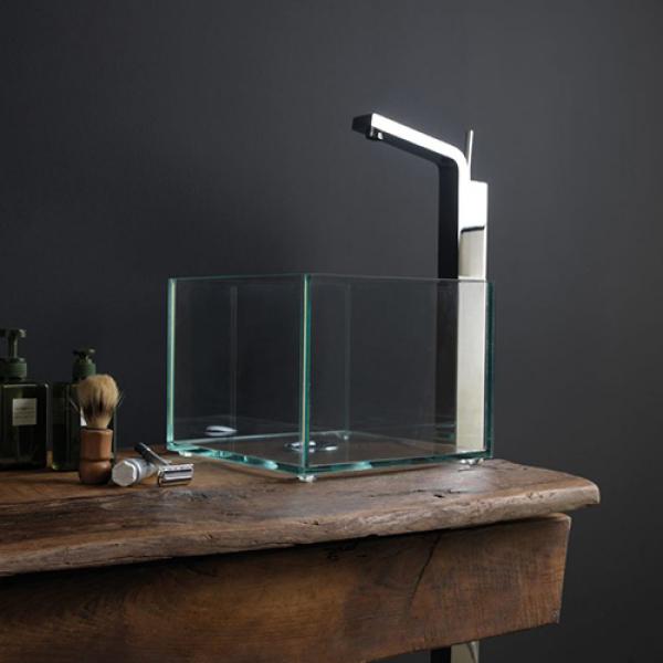 GSG Glass раковина накладная прозрачная GLLA31