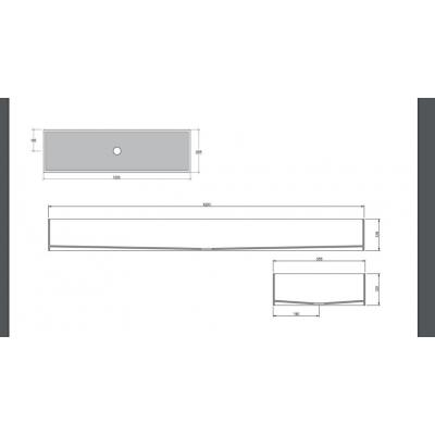 GSG Glass раковина подвесная белая GLLAME120