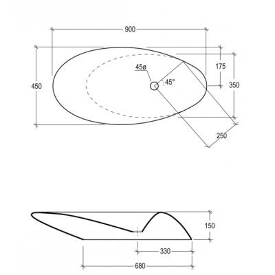 Раковина накладная GSG - Touch