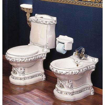 Унитаз напольный цветной Ceramica Ala - Imperial Dec1001
