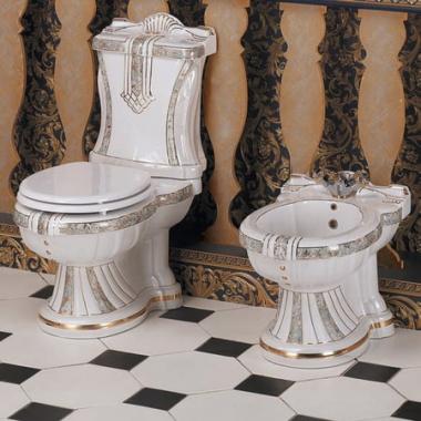 Биде напольное цветное Ceramica Ala - New Lord Dec902