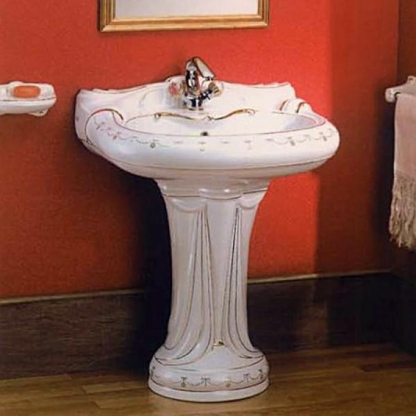 Раковина с колонной Ceramica Ala - Queen Dec506A