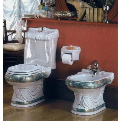 Унитаз напольный цветной Ceramica Ala - Quee 500A