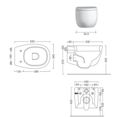 Nic Design Milk унитаз подвесной белый 003 277