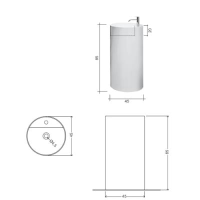Nic Design Ovvio раковина напольная отдельностоящая белая 001 452