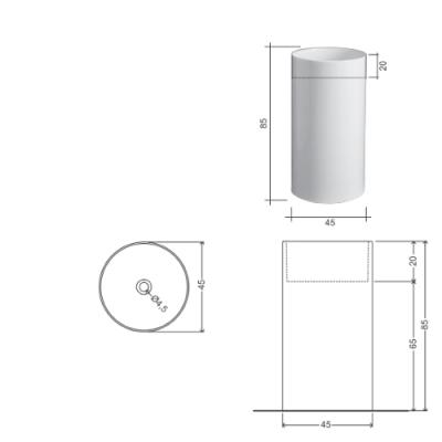 Nic Design Ovvio раковина напольная отдельностоящая белая 001 453