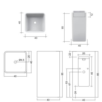 Nic Design Semplice раковина напольная отдельностоящая цветная 001 372