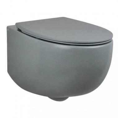 AeT Dot 2.0 унитаз консольный в комплекте с крышкой ,цвет серый матовый