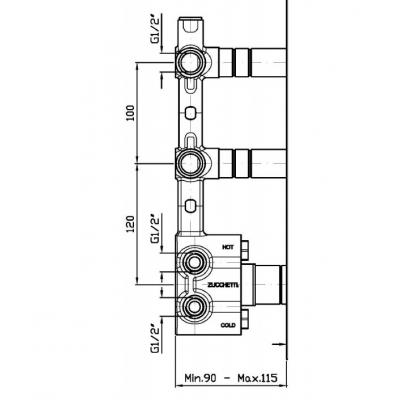 Zucchetti Savoir смеситель для душа настенный ZSV660.CN - R99502